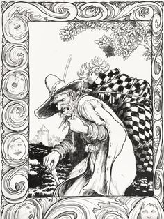 If you really must know, that's Hugo's mother-in-law strapped on his back. - William Heath Robinson