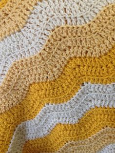 Soft waves baby blanket by StarryHeartCrochet on Etsy