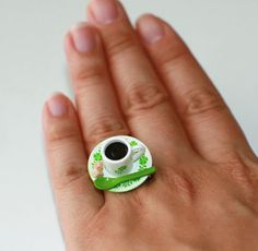 Kawaii Miniature Food Rings  A Cup of Tea or by fingerfooddelight, $10.00  Ysa would Love this!