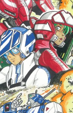 Max & Miriya Sterling - Robotech: The Macross Saga - Art by Greg Lane Macross Valkyrie, Robotech Macross, Manga Anime, Anime Art, Macross Anime, Saga Art, Saturday Morning Cartoons, Anime Comics, Anime Style