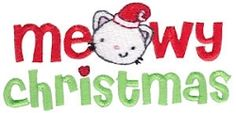 Pet Christmas 2 - 2 Sizes! | Tags | Machine Embroidery Designs | SWAKembroidery.com Bunnycup Embroidery