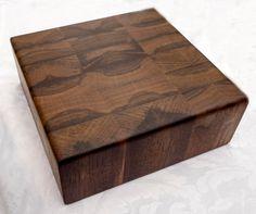 "Cutting Board, Black Walnut, Book-Matched, End Grain Cutting Board, Rectangular, 1.5"" & 2"" Thick, Custom, Juice Drain, Finger Pulls, Engrave"