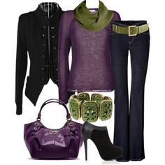Plum + Black + Green