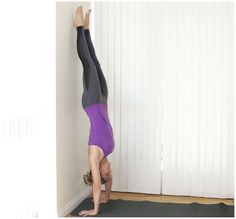 Going upside down can be intimidating. Here are easy yoga inversions to get you used to bearing the weight of your body.
