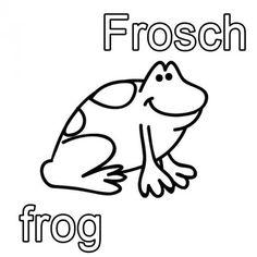 Kostenlose Malvorlage Englisch Lernen Ausmalbild Englisch Lernen Frosch Frog Zum Ausmalen Englisch Lernen Englisch Lesen Ausmalen
