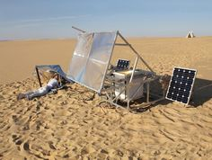 Markus Kayser, Solar Sinter, a numerical control machine designed to construct objects only with solar power and using sand as a raw material.