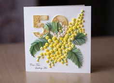 quilling, flowers, card, Cris Tan