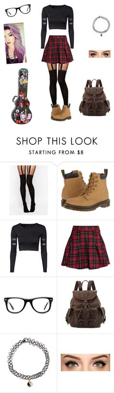 """Rocker chick"" by ava-rausch ❤ liked on Polyvore featuring ASOS, Dr. Martens, H&M, Muse, Frye and Accessorize"