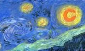 """FREE PASTEL PROJECT:Starry Night Reproduction...The classical way to learn to draw is to copy the great masters. This practice builds confidence and broadens the student's style. Try a close up of Vincent van Gogh's """"Starry Night"""" in soft or oil pastels. Good for students ages 8 and up. Free pdf download..."""