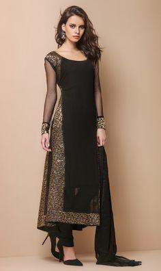PS-422 - Black - Suits - Ladies Wear - Diya Online