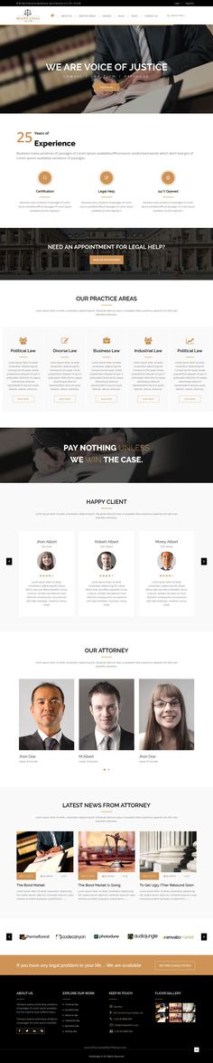 Miako Legal Law Firm Bootstrap HTML5 Template has 4 stunning home pages and 9 others pages layouts. #lawyer #attorney #webssite