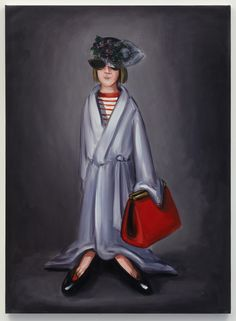 """Lisa Milroy """"Dressing Up"""", 2013 Oil painting. Acting out your future Lisa Milroy, Used Dresses, Past, Acting, Dress Up, Oil, Future, Portrait, Image"""