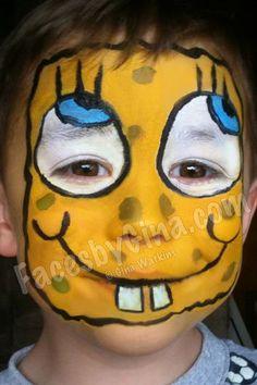 Spongebob face painting