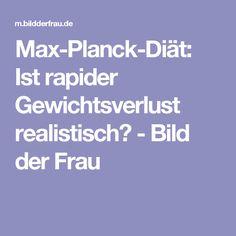 Max-Planck-Diät: Ist rapider Gewichtsverlust realistisch? - Bild der Frau