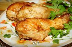 Куриные ножки в горчичном соусе,запечённые в духовке