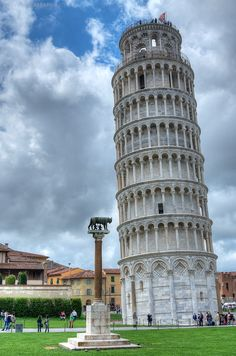 The Leaning Tower and the Lupa Capitolina, Pisa Square of Miracles