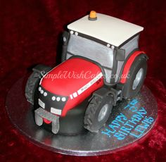 Big Red Tractor - by Stef and Carla (Simple Wish Cakes) @ CakesDecor.com - cake decorating website