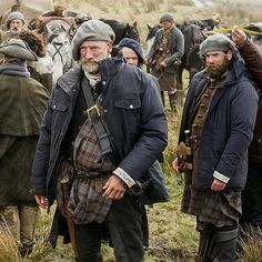 Graham McTavish and Ducan LaCroix as Dougal MacKenzie and Murtagh Fitzgibbons, Outlander Starz