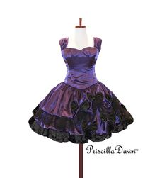 Custom Made Color and Size Goth Tea Dress From Priscilladawn. $450.00, via Etsy.