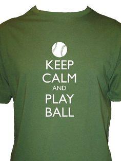 04eca7c41b27a3 Keep Calm and Play Ball Baseball Shirt Mens by redbrickwall