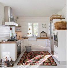 Tapete na cozinha?? O que vcs acham? #inspiracao #cozinha #decoracao #tapetes by avoqueria
