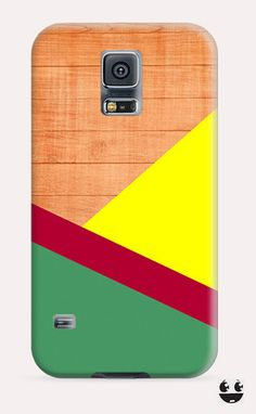 Wooden Yellow Green Red Galaxy Samsung S5, Galaxy Samsung S4, Galaxy Samsung S3