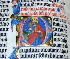 Ensimmäisen Pietarin kirjeen alkua. Käsikirjoitus vuodelta 1407.