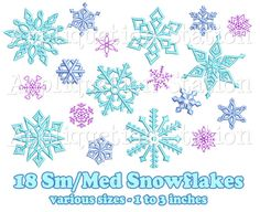 G-Kak bought Small & Medium Snowflake Set 18 Designs by AppliquetionStation