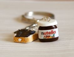 Hey, I found this really awesome Etsy listing at https://www.etsy.com/listing/123031780/nutella-polymer-clay-keychain-with-tiny