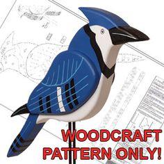 Big 3-D Blue Jay DIY Woodcraft Pattern #1856 - A big hit with bird fanciers…