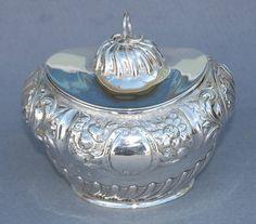 Antiques Atlas - Victorian Silver Tea Caddy 1893