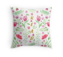 Read Floral Throw Pillow