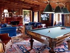 Ralph Lauren's Refined Houses and Chic Madison Avenue Office - Architectural Digest Ralph Lauren House, Ralph Lauren Style, Ralph Lauren Home Living Room, Madison Avenue, Home Design, Interior Design, Bedford New York, Billards Room, Pool Table Room