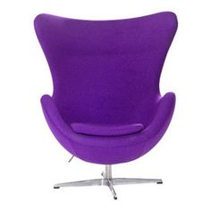 Arne Jacobsen Egg Chair in Purple more: http://foter.com/egg-chairs/