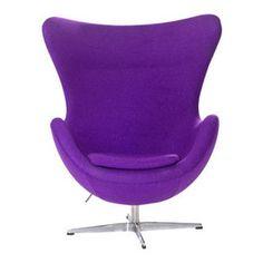 Arne Jacobsen Egg Chair in Purple more: http://foter.com/egg-chairs/