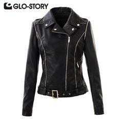 Aliexpress.com : Buy GLO STORY Women Jackets 2017 Chic  Street Punk Style Autumn Winter womens Coats Lady PU Leather Jacket Coat WPY 3335 from Reliable pu leather jacket coat suppliers on GLO-STORY FASHION