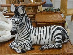 Italian Vintage Terracotta Zebra Palm Beach Regency, Lake Park, Vintage Italian, Terracotta, Animal Print Rug, Decor, Decoration, Dekoration, Inredning