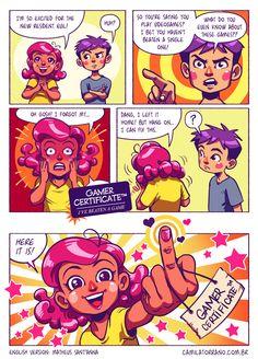 Gamer Certificate Comic http://geekxgirls.com/article.php?ID=4260