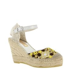 Vidorreta Epti is a gorgeous ethnic embroidery in an easy-to-wear wedge espadrille sandal | SPANISH SHOP ONLINE