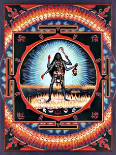 Kali Yantra (I think) Kali Yantra, Shiva Shakti, Kali Goddess, Mother Goddess, Black Goddess, Om Namah Shivaya, Kali Tattoo, Goddess Of Destruction, Mother Kali