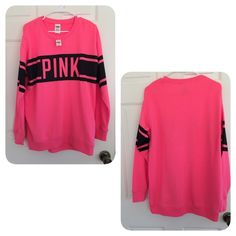 Victoria's Secret PINK long sweatshirt xs Brand new,NO TRADE! PINK Victoria's Secret Tops Sweatshirts & Hoodies