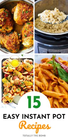 15 Quick and Easy Instant Pot Recipes To Make So You Don't Have To Heat Up The House Easy Recipes For Beginners, Fun Recipes, Popular Recipes, Amazing Recipes, Dinner Recipes, Easy Weeknight Dinners, Frugal Meals, Quick Easy Meals, Kids Meals