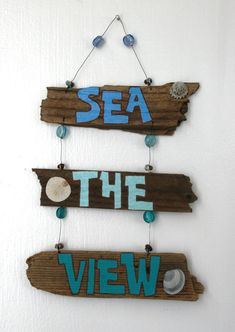 Sea the View Driftwood Art with colorful by PeaceLoveDriftwood, $24.00