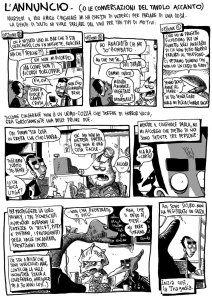 """ZEROCALCARE: """"L'ANNUNCIO. (O LE CONVERSAZIONI DEL TAVOLO ACCANTO)"""", LA NUOVA STORIA SUL BLOG http://c4comic.it/2015/06/22/zerocalcare-uscita-una-nuova-storiella-sul-suo-blog-lannuncio-e-le-conversazioni-del-tavolo-accanto/"""