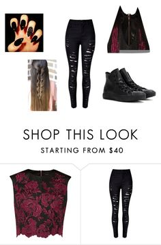 """wattpad"" by kennajayce on Polyvore featuring Ted Baker and Converse"