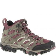 24454 Merrell Women's Moab Mid WP Hiking Boots - Boulder www.bootbay.com
