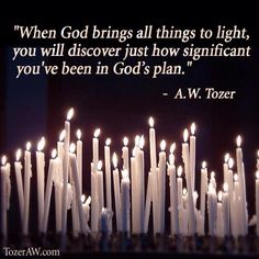 When God brings all things to light, you will discover just how significant you've been in God's plan Christian Women, Christian Quotes, Godly Man, Gods Plan, God Jesus, Jesus Christ, Faith Quotes, Aw Tozer Quotes, Quotes Quotes