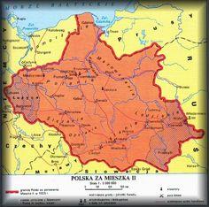 Mapa za panowania Mieszka II