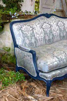 """Fadini Borghi fabric on a Gilles Nouailhac """"Ségur"""" Louis XV sofa"""