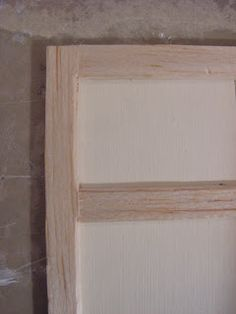 how to: making a shabby paneled door